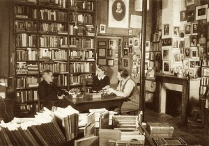 Stein in Shakespeare and Company in Paris